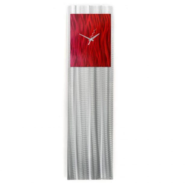 Raspberry/Red Vibe Clock - our artisan Fine Metal Art
