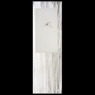 White Metal Clock - our artisan Fine Metal Art