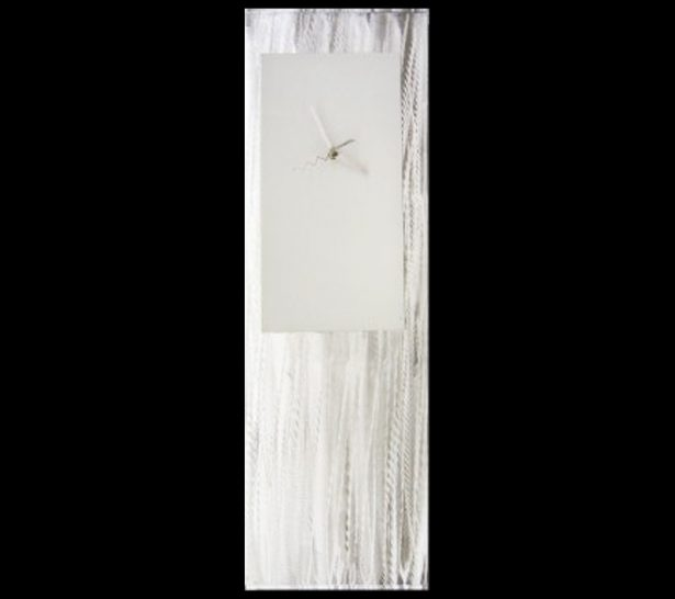 White Metal Clock - our artisan Fine Metal Art