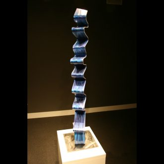 Blue Accordion - our artisan Fine Metal Art