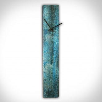 Corrosion Blue Clock - our artisan Fine Metal Art