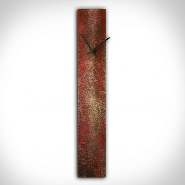 Corrosion Red Clock - our artisan Fine Metal Art