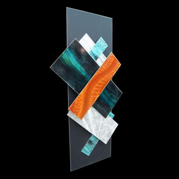 Ice Spectrum 5 - our artisan Fine Metal Art