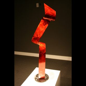 Lazy Red - our artisan Fine Metal Art