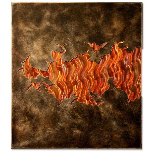 Fire Within V3 - our artisan Fine Metal Art