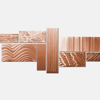 Crystallized Grid Copper - our artisan Fine Metal Art