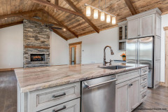 Custom Design Kitchen- Great Room with Beautiful Fireplace
