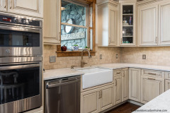Custom design kitchen cabinets with Country-Style Sink