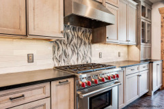 Nice Custom Design Backsplash in Kitchen at Garrison Hills