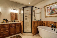 Beautiful Custom Designed Bathroom for Home in Weaverville