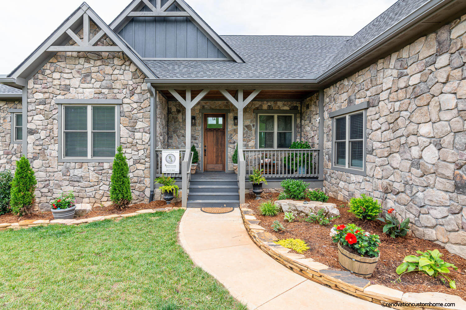 Front of the Model Home at Garrison Hills