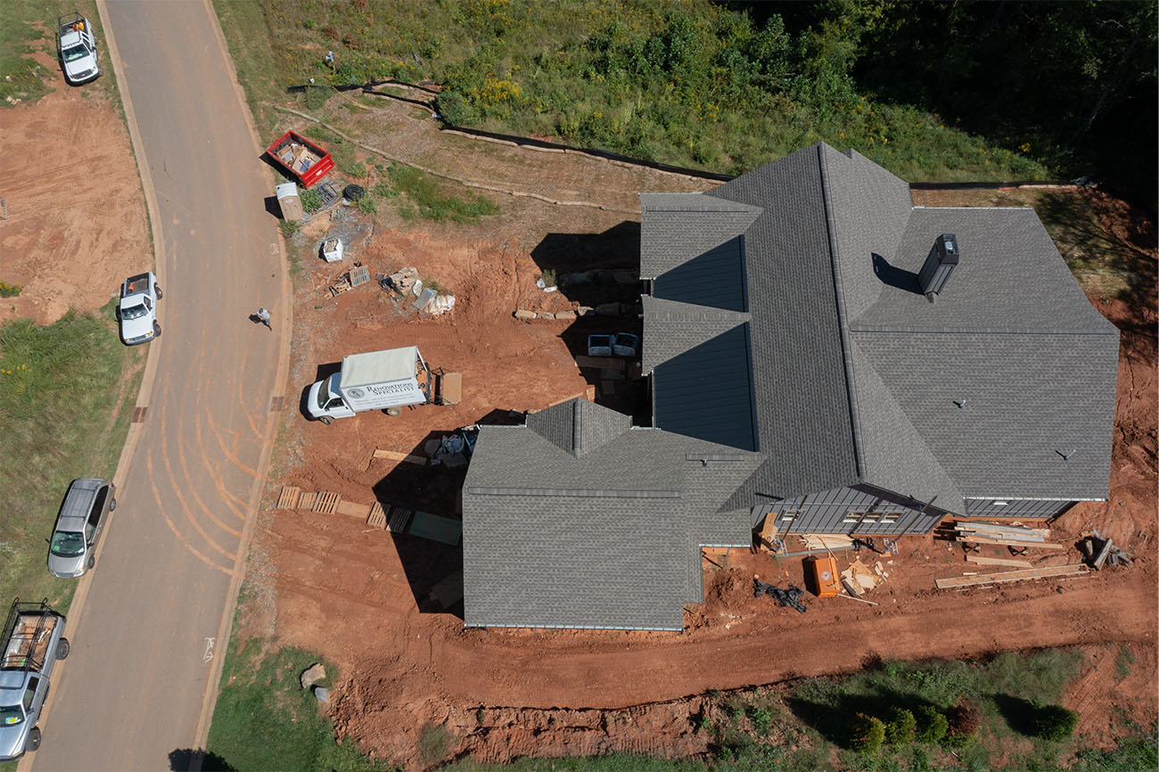 Drone View of the Roof of 44 Gracie Ln