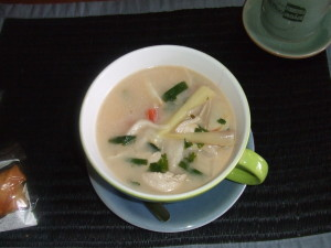 Yummy coconut chicken soup