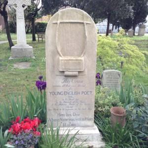 John Keats' Tombstone in a Cemetery in Rome