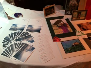 Photographs by Kathryn Cooper and Sandra Pike on our promotion table