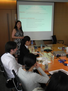 Me teaching a class in Shanghai