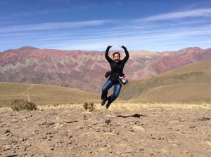 We were so impressed by the multi-colored mountains near Humahuaca in Northern Argentina.  More than 4000 feet above sea level!