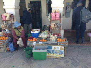 Street vendor at bus station (Humahuaca, Northern Argentina)