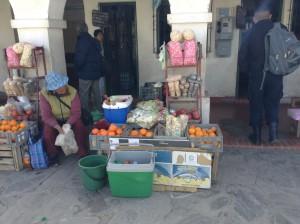 Street vendor at bus station (Humahuaca, Northern Argentina)