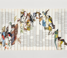 Cacophony, Toot Tweet Twitter Trill, 2007, rolled paper, 83 x 58.5 x 6 cm