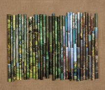 Into the Woods, 2008, rolled paper & linen, 80 x 98.5 x 10 cm