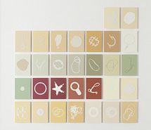 Tide Project, Things to be Forgotten, Britain ii, 2010, hand cut paint swatch cards, 76.5 x 78.5 cm