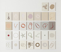 Tide Project, Things to be Forgotten, Britain, 2010, hand cut paint swatch cards, 76.5 x 78.5 cm