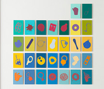 Tide Project, Things to be Forgotten, Spain ii, 2010, hand cut paint swatch cards, 73.8 x 71.8 cm