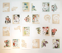 SILVERGATE (installation), 2008, hand cut paper, various dimensions