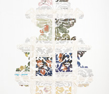 SILVERGATE: broad are sharply toothed, 2008, hand cut paper, 130 x 100 x 6 cm
