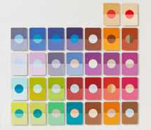Tide Project, Things to be Forgotten, Moon, 2010, hand cut paint swatch cards, 81 x 83.5 cm