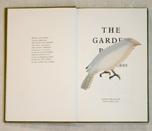 The Gareden Pool/Diamond Firetail, 2009, hand carved found book, created as part of a 12 piece book series for Emirates, Wolgan Valley Spa & Resort