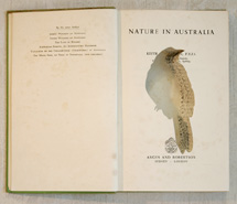 Nature in Australia/Bell Miner, 2009, hand carved found book, created as part of a 12 piece book series for Emirates, Wolgan Valley Spa & Resort