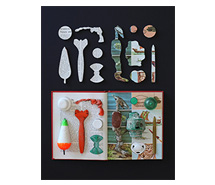 Life and Its Marvels, Inventions By Nature and Man 2013, 67.5 x 52.5 cm, marine debris & book
