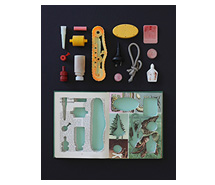 Life and Its Marvels, Living Together in Partnership 2013, 67.5 x 52.5 cm, marine debris & book