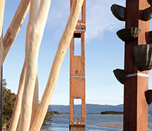 Ghost Trees for Spirit of Place 2016, Lake Illawarra, collaboration with Robert Nancarrow