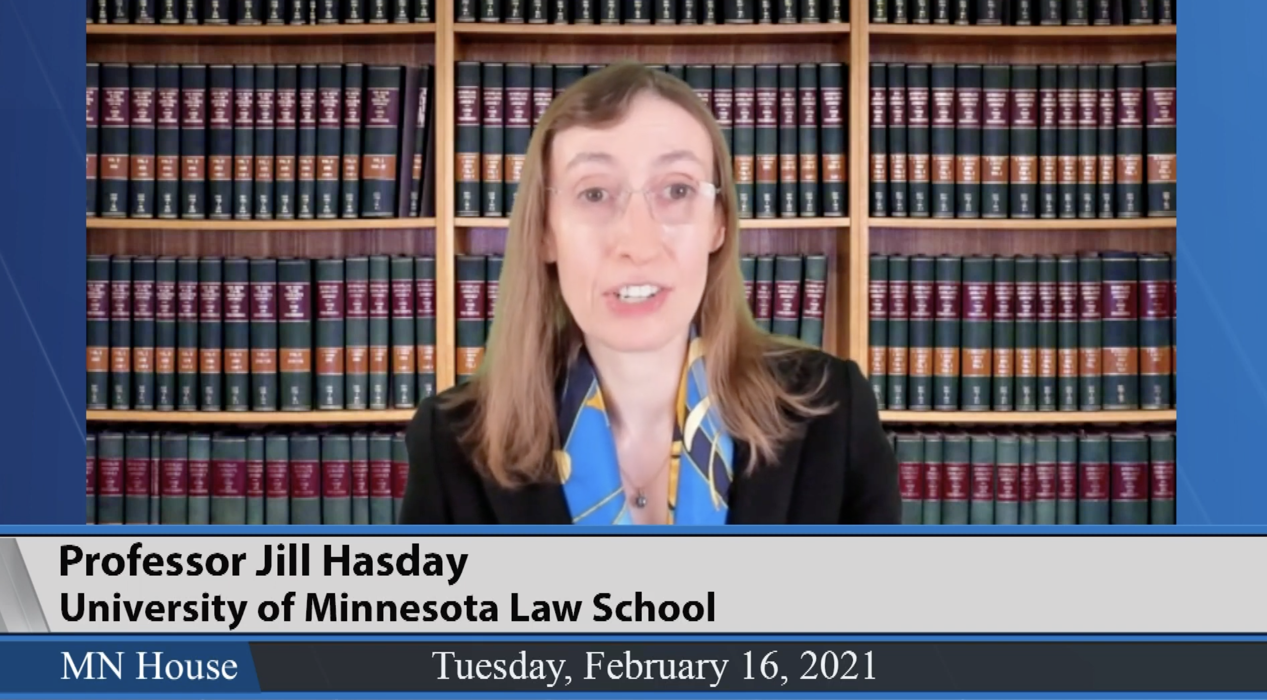 Prof. Jill Hasday testifying before MN Leg Feb 21