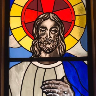 He is Risen stainedglass