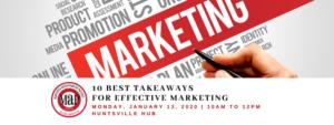 """""""Ten Marketing Takeaways for 2020"""" Workshop @ Huntsville Hub"""