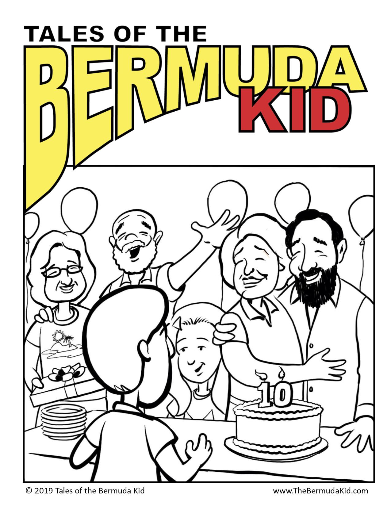 Bermuda Kid Coloring Page