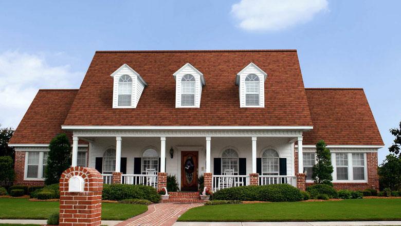 bold reddish centennial home