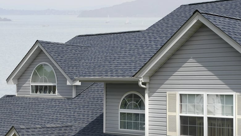 highlands ranch roofing with blue shingles