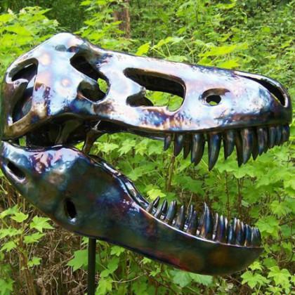 Raz Ashton Metal Sculpture-TRex