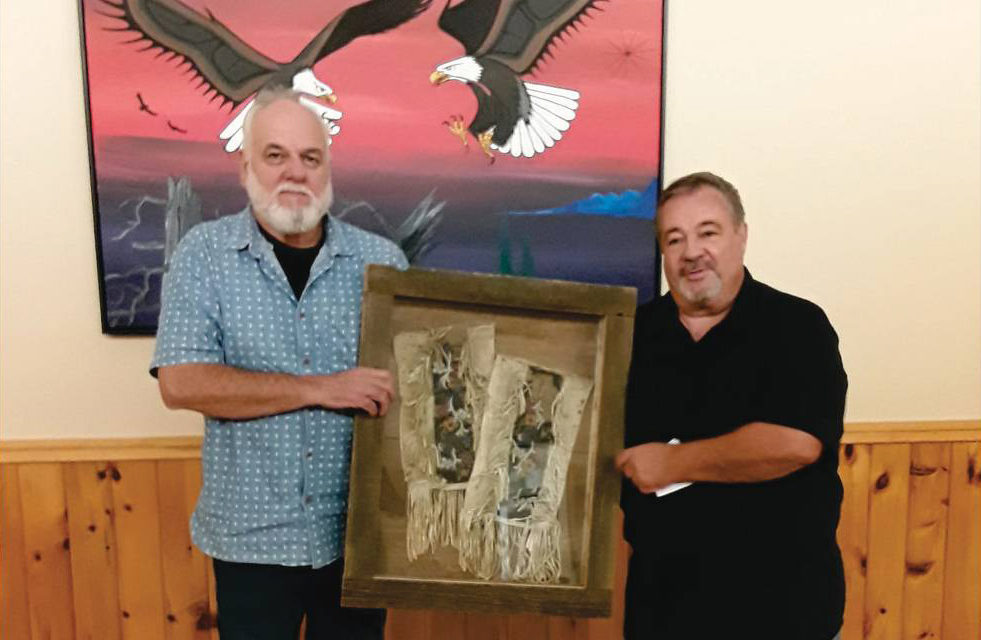 Don Kett Donates Historical Ojibway Leggings To The Mississauga Of Scugog Island First Nation