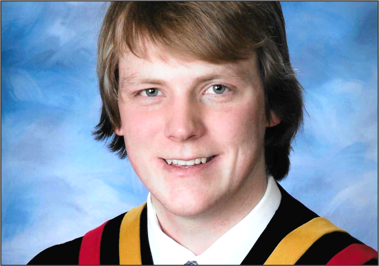 Tyler West from Brock High School is awarded  the largest Canadian STEM scholarship