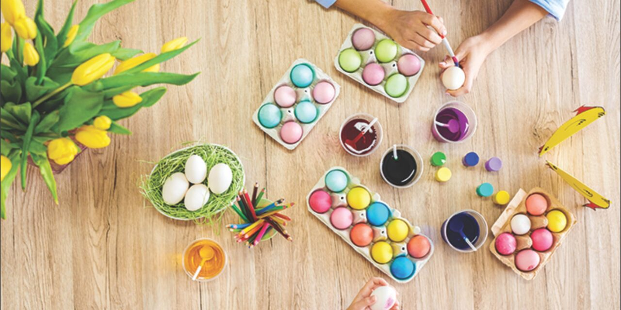 Coloring eggs is a beloved Easter tradition