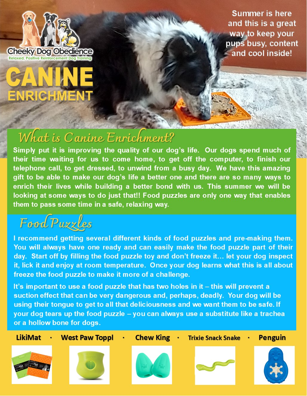 Canine Enrichment July 2021 Page 1