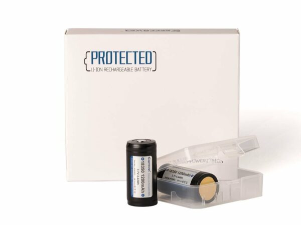 18350 KeepPower 1200mAh Protected Button Top
