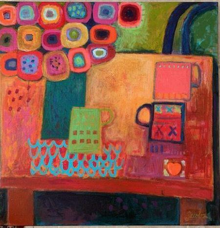 flowers and coffee mugs