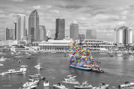 Gasparilla ships in Tampa Bay